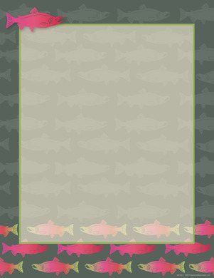 NEW! Salmon Computer Paper picture