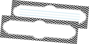 Chevron - Black DOUBLE-SIDED Name Plates picture