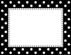 Black & White Dot Border Chart picture