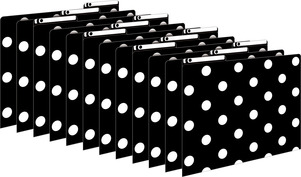 Black & White Dots File Folders picture