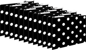 Black & White Dots File Folders picture