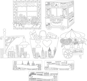 Color Me! Cityscapes Double-Sided Accents picture