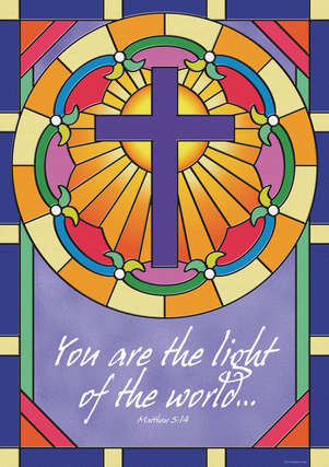 Spiritual Poster - You Are The Light (Matthew 5:14) picture