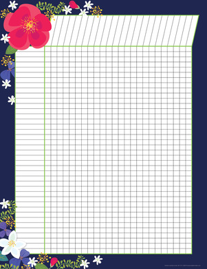 NEW! Incentive Chart - Petals Navy picture