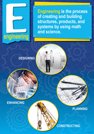 NEW! STEM/STEAM Poster - Engineering picture