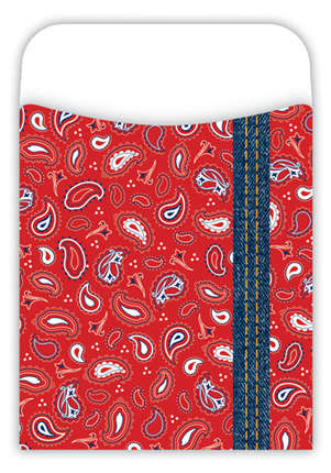 Peel & Stick!  Bandana Library Pockets picture
