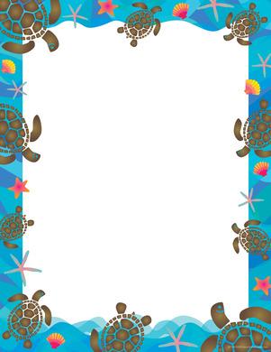 NEW! Kai Ola Sea Turtles Computer Paper picture