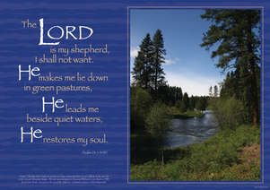Spiritual Poster - The Lord is my Shepherd picture
