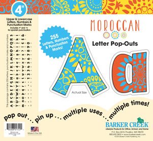 "4"" Moroccan Letter Pop-Outs picture"