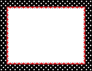 Just Dotty - Black & White Border Chart picture