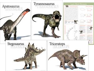 Dinosaur Poster Set picture