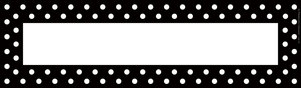 Black & White Dot DOUBLE-SIDED Name Plates picture