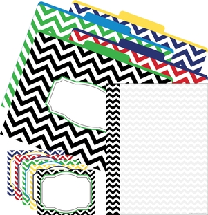 Get Organized - Chevron Nautical picture