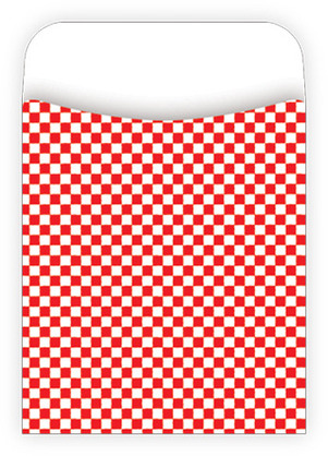 Red Check Library Pockets picture