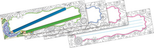 Color Me! In My Garden DOUBLE-SIDED Name Plates picture