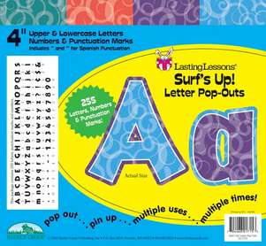 """Surf's Up! 4"""" Letter Pop-Outs picture"""