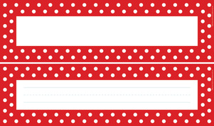 Red & White DOUBLE-SIDED Name Plates picture
