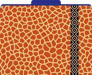 Giraffe File Folders picture