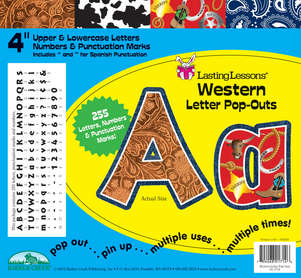 """Western 4"""" Letter Pop-Outs picture"""