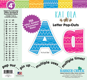 """4"""" Kai Ola Letter Pop-Outs picture"""