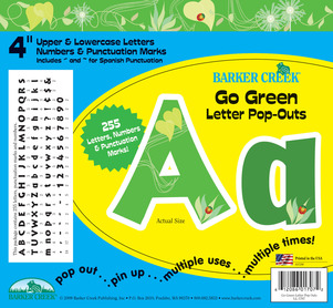 """Go Green 4"""" Letter Pop-Outs picture"""