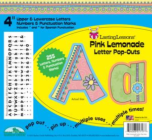 "Pink Lemonade 4"" Letter Pop-Outs picture"