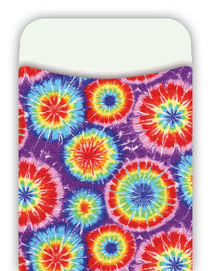 Peel & Stick! Tie-Dye Library Pockets picture