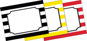 Wide Stripes Name Tags picture