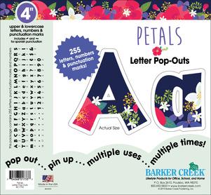 "NEW!! 4"" Petals Letter Pop-Outs picture"