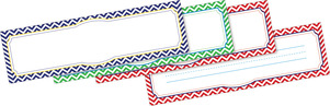 Chevron - Nautical DOUBLE-SIDED Name Plates picture