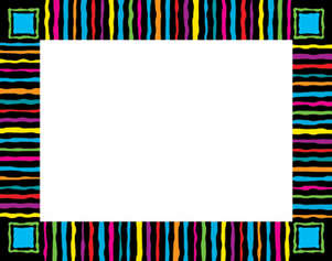 Neon Stripes Name Tag picture