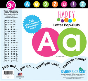 """3 ¼"""" Happy Letter Pop-Outs picture"""