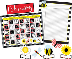 NEW! Get it All!  Buffalo Plaid & Wide Stripes Calendar & Incentive Chart Set picture