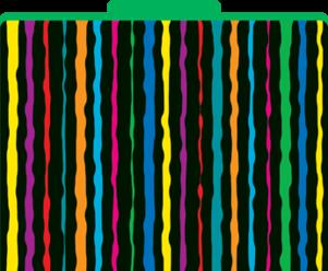 Neon Stripe File Folders picture