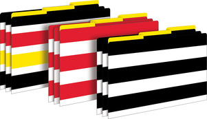 Wide Stripes Legal-Size File Folders picture