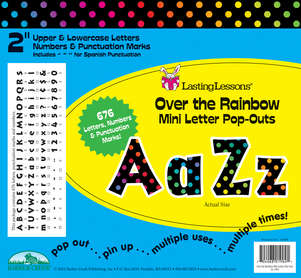 """Over the Rainbow 2"""" Letter Pop-Outs picture"""