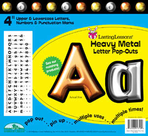 """Heavy Metal 4"""" Letter Pop-Outs picture"""