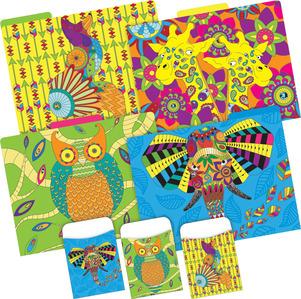 Folder/Pocket Set -  Bohemian Animals picture