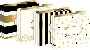 Gold File Folders picture