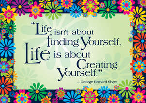 Poster - Life is about Creating Yourself picture