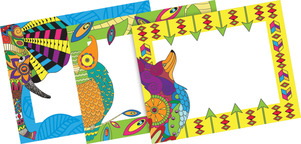 Bohemian Animals Name Tags picture