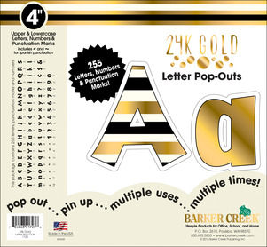 """4"""" 24k Gold Letter Pop-Outs picture"""
