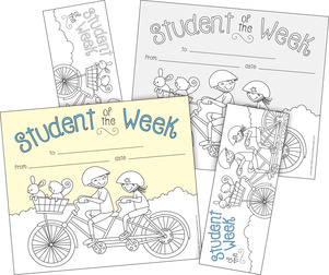 Color Me! Student of the Week Awards & Bookmarks Set picture