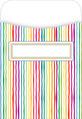 Peel & Stick! Stripes Library Pockets