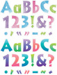 """NEW! Letter Set - 4"""" Tie-Dye and 4"""" Ombré additional picture 3"""