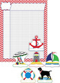 Nautical Chevron Incentive Chart and Accent Set - Set of 37