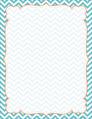 Chevron - Turquoise Border Chart
