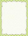 Chevron - Lime Border Chart
