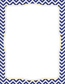 Chevron - Navy Border Chart