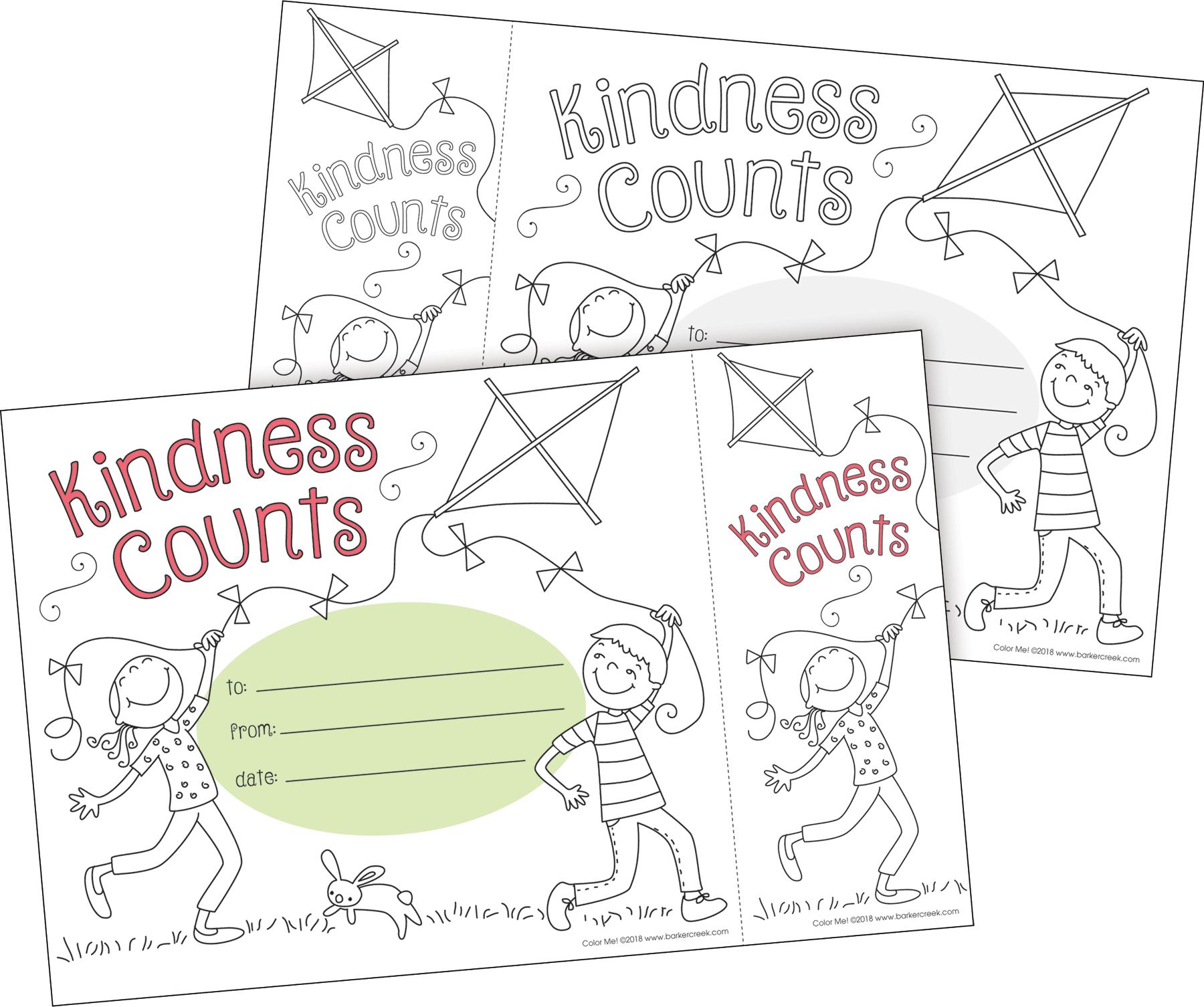 - Color Me! Kindness Counts Awards & Bookmarks Set - Barker Creek